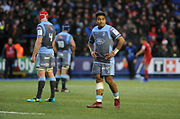 Rey Lee-Lo of Cardiff Blues during the Heineken Champions Cup match between Cardiff Blues and Saracens at Cardiff Arms Park in Cardiff, Wales. Saturday 15 December 2018
