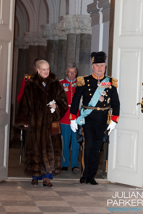 Queen Margrethe and Prince Henrik of Denmark attend the New Year Court for diplomats at Christiansborg Palace in Copenhagen, Denmark.