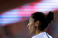 HOUSTON, TX - JANUARY 28: Christen Press #20 of the United States stands ready at the corner during a game between Haiti and USWNT at BBVA Stadium on January 28, 2020 in Houston, Texas.