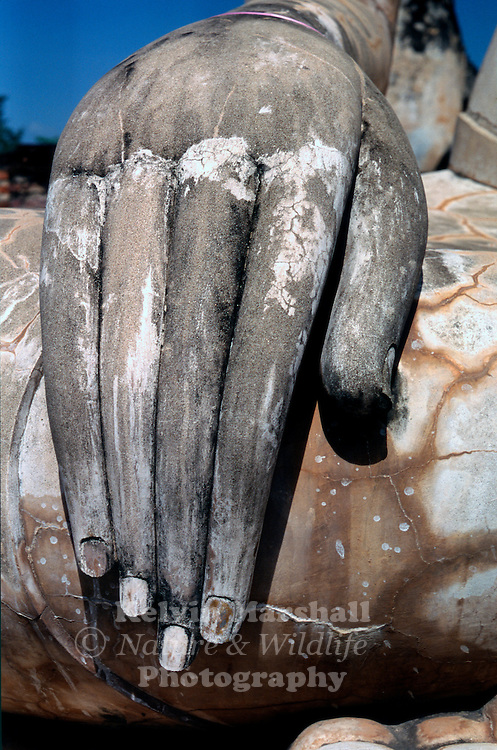 "The delicate fingers of ""Lord Buddha"" Wat Mae Chon - Sukhothai Historical Park. Thailand."
