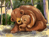 Marcello, CUTE ANIMALS, LUSTIGE TIERE, ANIMALITOS DIVERTIDOS, paintings+++++,ITMCEDH1051,#AC#, EVERYDAY ,brown bears
