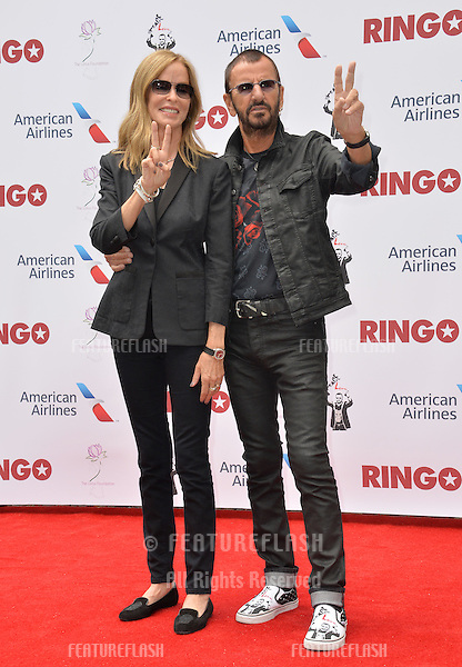 Ringo Starr &amp; wife Barbara Bach at photocall at Capitol Records, Hollywood, to celebrate his 75th birthday.<br /> July 7, 2015  Los Angeles, CA<br /> Picture: Paul Smith / Featureflash