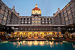 MUMBAI, INDIA - SEPTEMBER 27, 2010: The pool at the Taj Mahal Palace and Tower Hotel in Mumbai. The hotel has re-opened after the terror attacks of 2008 destroyed much of the heritage wing. The wing has been renovated and the hotel is once again the shining jewel of Mumbai. pic Graham Crouch