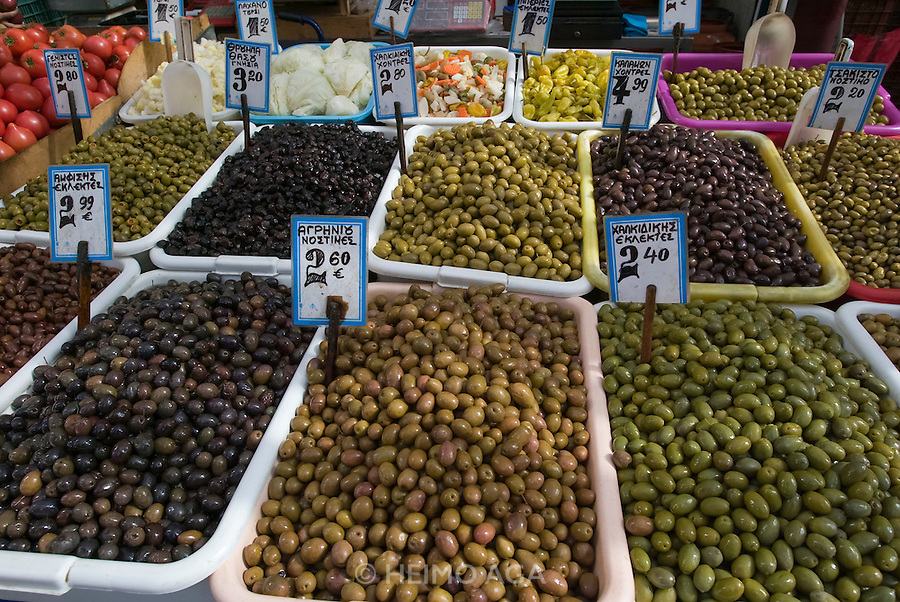 At the Central Market. Olives.