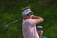 Ian Poulter (GBR) watches his tee shot on 2 during round 3 of the Houston Open, Golf Club of Houston, Houston, Texas. 3/31/2018.<br /> Picture: Golffile | Ken Murray<br /> <br /> <br /> All photo usage must carry mandatory copyright credit (&copy; Golffile | Ken Murray)