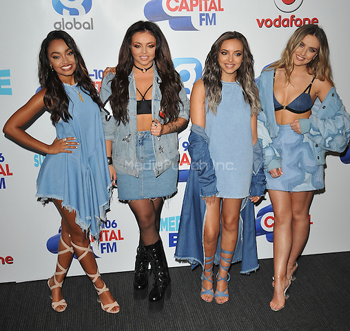 Little Mix ( Leigh-Anne Pinnock, Jesy Nelson, Jade Thirlwall &amp; Perry Edwards ) at the Capital FM Summertime Ball in aid of the Help a London Child charity, Wembley Stadium, Wembley, London, England, UK, on Saturday 11 June 2016.<br /> CAP/CAN<br /> &copy;CAN/Capital Pictures /MediaPunch ***NORTH AND SOUTH AMERICA ONLY***