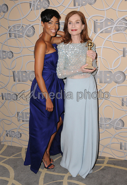 08 January 2017 - Beverly Hills, California - Jazmyn Simon, Isabelle Huppert. HBO's Official 2017 Golden Globe Awards After Party held at the Beverly Hilton Hotel Photo Credit: Birdie Thompson/AdMedia