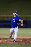 AZL Cubs relief pitcher Jake Stinnett (50) delivers a pitch to the plate against the AZL Royals on July 19, 2017 at Sloan Park in Mesa, Arizona. AZL Cubs defeated the AZL Royals 5-4. (Zachary Lucy/Four Seam Images)