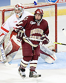 (Charlie Effinger) Nathan Gerbe - The Boston College Eagles defeated the Miami University Redhawks 5-0 in their Northeast Regional Semi-Final matchup on Friday, March 24, 2006, at the DCU Center in Worcester, MA.