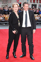 Meryl Streep and Hugh Grant<br /> arrives for the &quot;Florence Foster Jenkins&quot; European premiere at the Odeon Leicester Square, London<br /> <br /> <br /> &copy;Ash Knotek  D3106 12/04/2016