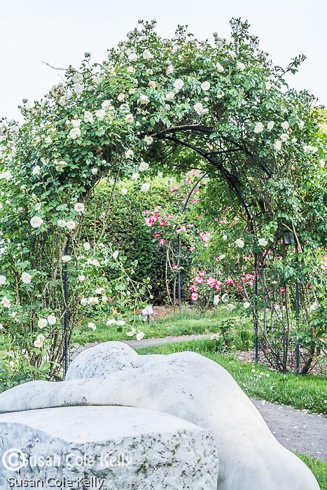 Desconsol (statue by Josep Elimona of Spain) in the James P. Kelleher Rose Garden, Boston, Massachusetts, USA