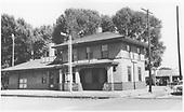 D&amp;RGW La Jara depot.<br /> D&amp;RGW  La Jara, CO  ca. 1954