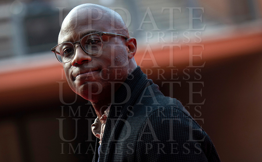 "Il regista statunitense Barry Jenkins posa sul red carpet per la proiezione del film ""If Beale Street Could Talk"" durante il Festival Internazionale del Film di Roma, 21 ottobre 2018.<br /> US director Barry Jenkins poses on the red carpet as he arrives for the screening of the film ""If Beale Street Could Talk"" during the International Rome Film Festival, on October 21, 2018.<br /> UPDATE IMAGES PRESS"