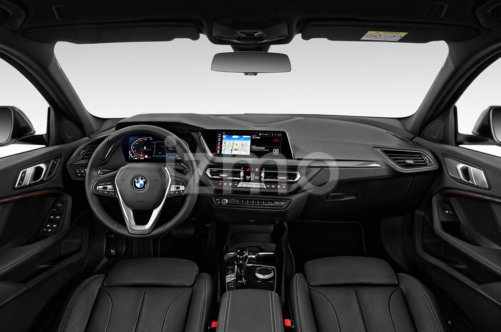Stock photo of straight dashboard view of 2020 BMW 1-Series Sport 5 Door Hatchback Dashboard