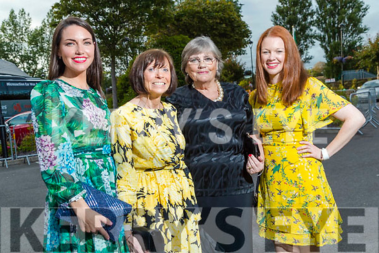 Mairead Wintersteller (Camp), Mary Casey (Ballyheigue), Margaret O'Connor (Camp) and Aoife Kane (Ballydunlea) at the Rose of Tralee fashion show at the dome on Sunday night.