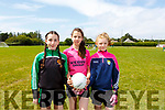 Aoife Greaney, Robin Kelly and Molly McDaid at the Churchill Cul Camp on Tuesday