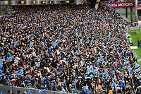 14th June 2020, Aukland, New Zealand;  General view and fans at the Investec Super Rugby Aotearoa match, between the Blues and Hurricanes held at Eden Park, Auckland, New Zealand.