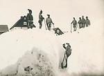 Cleraing snow, Nuuk, Greenland 1889