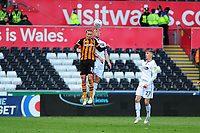 Mike van der Hoorn of Swansea City in action during the Sky Bet Championship match between Swansea City and Hull City at the Liberty Stadium in Swansea, Wales, UK. Saturday 27 April 2019