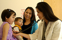 Childrens medical check-up.