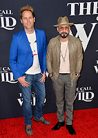"LOS ANGELES, CA: 13, 2020: Mark Adler & AJ McLean at the world premiere of ""The Call of the Wild"" at the El Capitan Theatre.<br /> Picture: Paul Smith/Featureflash"