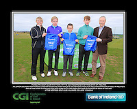 Roselare Golf Club boys With Kate Wright CGI and Brendan Byrne Bank of Ireland.<br /> Junior golfers from across Leinster practicing their skills at the regional finals of the Dubai Duty Free Irish Open Skills Challenge supported by Bank of Ireland at the Heritage Golf Club, Killinard, Co Laois. 2/04/2016.<br /> Picture: Golffile | Fran Caffrey<br /> <br /> <br /> All photo usage must carry mandatory copyright credit (© Golffile | Fran Caffrey)