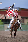 Miss Rodeo Nevada Ashley Espin rides through the arena at the Smackdown at Fuji Park in Carson City, Nev., on Friday, June 5, 2015. <br /> Photo by Cathleen Allison/Nevada Photo Source