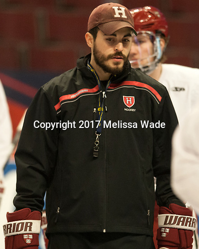 Rob Rassey (Harvard - Assistant Coach) - The Harvard University Crimson practiced at the United Center on Wednesday, April 5, 2017, in Chicago, Illinois.