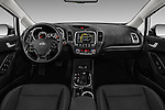 Stock photo of straight dashboard view of 2017 KIA Forte EX-AT 4 Door Sedan Dashboard