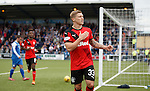 Martyn Waghorn celebrates his first penalty goal