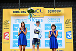 Simon Yates (GBR) Orica-Scott retains the White Jersey at the end of Stage 10 of the 104th edition of the Tour de France 2017, running 178km from Perigueux to Bergerac, France. 11th July 2017.<br /> Picture: ASO/Alex Broadway | Cyclefile<br /> <br /> <br /> All photos usage must carry mandatory copyright credit (&copy; Cyclefile | ASO/Alex Broadway)