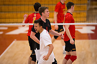 STANFORD, CA - January 2, 2018: Eric Beatty, Evan Enriques at Burnham Pavilion. The Stanford Cardinal defeated the Calgary Dinos 3-1.