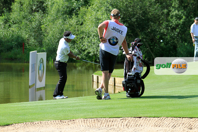 Thongchai Jaidee (THA) chips onto the par3 12th green during Day 2 of the BMW International Open at Golf Club Munchen Eichenried, Germany, 24th June 2011 (Photo Eoin Clarke/www.golffile.ie)