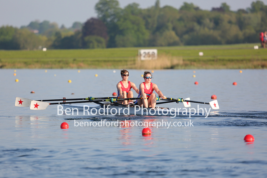 Race: 111  Event: W Club 2x  Final<br /> <br /> Wallingford Regatta 2018<br /> <br /> To purchase this photo, or to see pricing information for Prints and Downloads, click the blue 'Add to Cart' button at the top-right of the page.