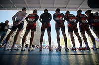 Team BMC on the start podium<br /> <br /> Brabantse Pijl 2014