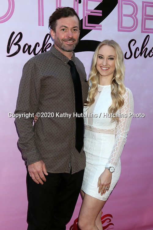 """LOS ANGELES - MAR 8:  Brendan Lutes and Emily Lutes at the """"To the Beat! Back 2 School"""" World Premiere Arrivals at the Laemmle NoHo 7 on March 8, 2020 in North Hollywood, CA"""