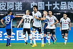 Besiktas Istambul Forward Cenk Tosun (R) celebrating his goal with his teammates during the Friendly Football Matches Summer 2017 between FC Schalke 04 Vs Besiktas Istanbul at Zhuhai Sport Center Stadium on July 19, 2017 in Zhuhai, China. Photo by Marcio Rodrigo Machado / Power Sport Images