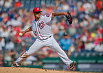 29 June 2017: Washington Nationals starting pitcher Joe Ross on the mound against the Chicago Cubs at Nationals Park in Washington, DC. The Cubs rallied against the Nationals to win 5-4 and split their 4-game series. Mandatory Credit: Ed Wolfstein Photo *** RAW (NEF) Image File Available ***