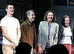 "Lucas Hedges, David Cromer, Joan Allen and Elaine May during the Opening Night Curtain Call bows for ""The Waverly Gallery"" at the Golden Theatre on October 25, 2018 in New York City."