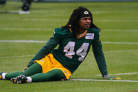 Green Bay Packers cornerback Donatello Brown (44) during an Organized Team Activity on May 23, 2017 at Clarke Hinkle Field in Green Bay, Wisconsin.  (Brad Krause/Krause Sports Photography)
