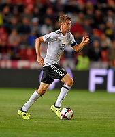 01.09.2017, Football WM-Qualifikation, 7. match day, Tschechien - Germany, in Prag, stadium Eden. Thomas Mueller (Germany) . *** Local Caption *** +++ NED + SUI out +++<br /> Contact: +49-40-22 63 02 60 , info@pixathlon.de