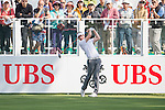 Lasse Jensen of Denmark tees off the first hole during the 58th UBS Hong Kong Golf Open as part of the European Tour on 08 December 2016, at the Hong Kong Golf Club, Fanling, Hong Kong, China. Photo by Marcio Rodrigo Machado / Power Sport Images