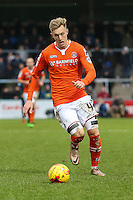 Joe Pigott of Luton Town during the Sky Bet League 2 match between Wycombe Wanderers and Luton Town at Adams Park, High Wycombe, England on 6 February 2016. Photo by David Horn.