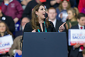 Republican National Committee Chairwoman Ronna McDaniel urges the crowd to support Rick Saccone, Republican Congressional candidate for Pennsylvania's 18th district, during a Make America Great Rally in Moon Township, Pennsylvania on March 10th, 2018. Credit: Alex Edelman / CNP