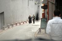 Women in the street.