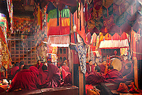 Chanting, meditation and scripture reading are part of the morning rituals at Tidrum nunnery in Tibet.