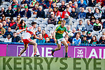Donchadh O'Sullivan Kerry in action against Oran McGill Derry in the All-Ireland Minor Footballl Final in Croke Park on Sunday.