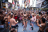 People in Underwear gather in Times Square To Break Guinness World Record in New York August 05, 2013 by Kena Betancur / VIEWpress