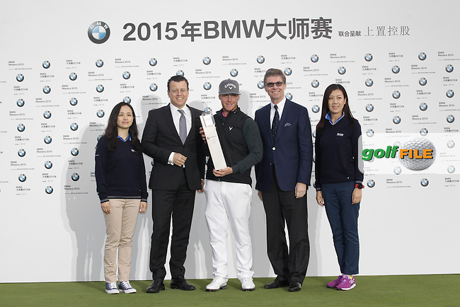 Kristoffer Broberg (SWE) winner of the BMW Masters, Lake Malarian Golf Club, Boshan, Shanghai, China.  15/11/2015.<br /> Picture: Golffile   Fran Caffrey<br /> <br /> <br /> All photo usage must carry mandatory copyright credit (&copy; Golffile   Fran Caffrey)