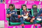 15.07.2017, Borussia Park, Moenchengladbach, GER, TELEKOM CUP 2017 - FC Bayern Muenchen vs TSG 1899 Hoffenheim<br /> <br /> im Bild<br /> David Alaba (FC Bayern Muenchen #27) und James (FC Bayern Muenchen #11) auf Ersatzbank, <br /> <br /> Foto &copy; nordphoto / Ewert